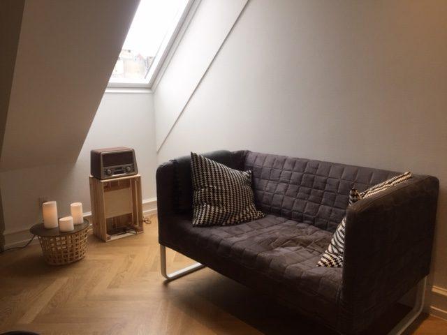 Vores hyggelige venteværelse, som er tilknyttet vores terapilokaler i København. Lokalerne kan lejes.